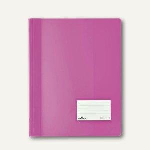 Durable Schnellhefter DURALUX A4+ 2680, transluzent-dunkelrosa, 25 St., 2680-34