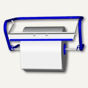 Fripa Putzrollen-Wandgerät, Metall, B500xT320xH220mm, blau, 2355003