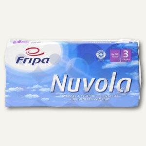Fripa Toilettenpapier Nuvola, 3-lagig, 100 x 120 mm, hochweiß, 8 Stück, 1200801