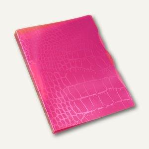 dataplus Ringbuch Trend Kroko A4, Ø 15 mm, fuchsia-kroko, 5-er Pack, 28042.621