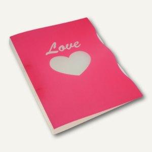 """dataplus Ringbuch Trend A4, Motiv """"Love"""", Ø 15 mm, rot, 5-er Pack, 28042.626"""