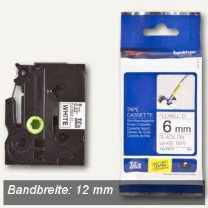 Brother Beschriftungsband Flexi-Tape, 12 mm, schwarz auf gelb, TZE-FX631