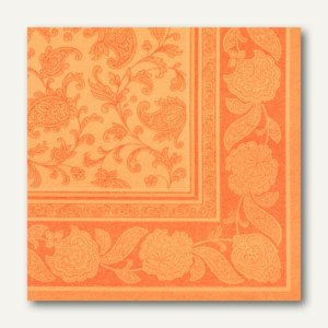 Servietten ROYAL Collection Ornaments,1/4-Falz,40x40cm,orange,160St., 11419