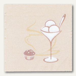 "Servietten ""ROYAL Collection Café"", 25 x 25 cm, champagner, 300 Stück, 10672"