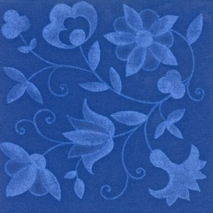 "Papstar Servietten ""ROYAL Collection Blue Curl"", 40x40cm, blau, 250 Stück, 11696"