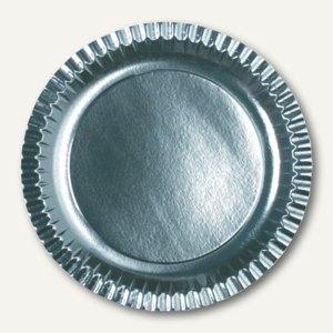 Papstar Pappteller, rund, Ø 29 cm, silber, 90 Stück, 11526