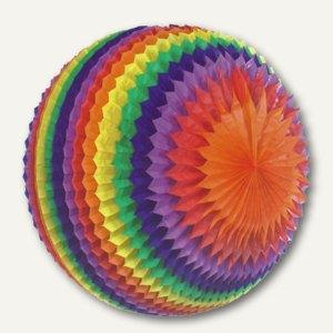 """Papstar Streifenball """"Rainbow"""", Ø 70 cm, Papier/schwer entflammbar, 3St., 81312"""