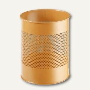 Durable Papierkorb METALL, rund, 15 Liter, orange, 3310-09