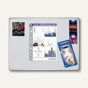 Franken Textiltafel PRO, 1.200 x 900 mm, Filz: grau, PT830312
