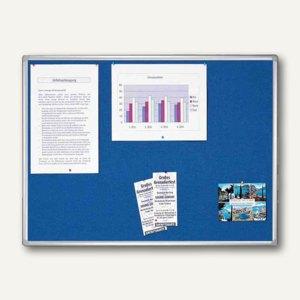 Franken Textiltafel PRO, 1.800 x 1.200 mm, Filz: blau, PT830503
