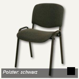 officio Polsterstuhl, gepolstert, schwarz/schwarz, 5er-Set, 3014/11