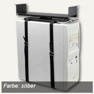 PC-Halter mit Gurtsystem für Untertisch-Montage, silber, 7231137