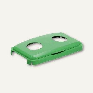 Durable Abfalldeckel DURABIN Lid 60, mit Einwurflöchern, grün, 1800501020