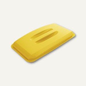 Durable Abfalldeckel DURABIN Lid 60, mit Griffmulde, gelb, 1800497030