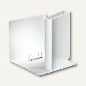 Präsentationsringbuch m. 2 Taschen, DIN A4, PP, 2-D-Ringe 30 mm, weiß, 49709
