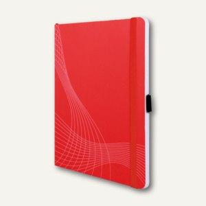 "Zweckform Notizbuch ""Notizio"", DIN A5, kariert, Softcover, rot, 80 Blatt, 7039"