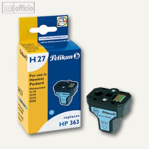 Pelikan Tintenpatrone H27, cyan light, kompatibel zu HP C8774EE, 5 ml, 354860