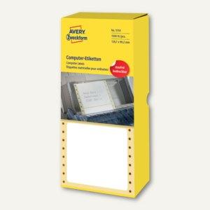 Zweckform Computer-Etiketten, endlos, 139.7 x 99.2 mm, weiß, 1.500 Stück, 5114