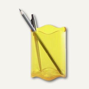 Durable Stifteköcher TREND, Ø 80mm, transluzent-gelb, 6 Stück, 1701235004