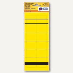 Zweckform Einzel-Ordnerrücken-Etiketten, kurz/schmal, gelb, 10 Stück, L4809-5