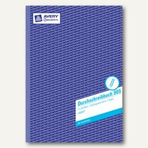 Zweckform Durchschreibbuch, DIN A4, weiß/liniert, 2 x 50 Blatt, 905