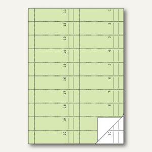 Zweckform Formular Bonbuch, fortlaufend nummeriert, 1.000 Bons, 2 x 50 Blatt,845