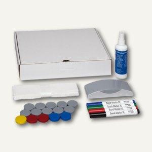 MAUL Whiteboard Zubehör-Set, 4 Marker+1 5 Magnete + Wischer + Reiniger, 6385909
