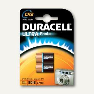 Duracell Photobatterie CR2, ULTRA Photo, Lithium, 2 Stück, DUR030480