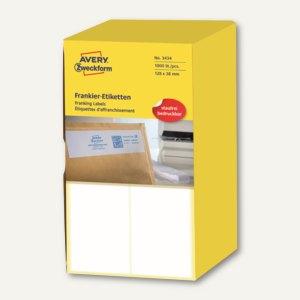 Zweckform Frankier-Etiketten - doppelt, 128 x 38 mm, 1.000 Stück, 3434