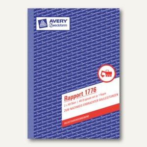 Zweckform Formular Rapport DIN A5, selbstdurchschreibend, 2x40 Blatt, 1776