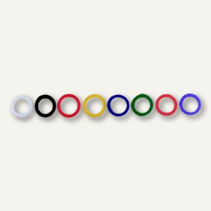 Alco Schlüsselring, flexibler Kunststoff, dunkelblau, 100 Stück, 1751-15