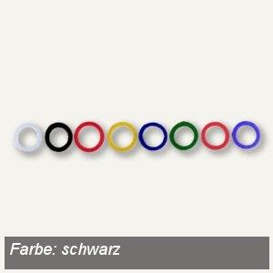 Alco Schlüsselring, flexibler Kunststoff, schwarz, 100 Stück, 1751-11