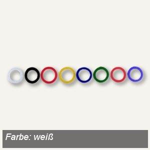 Alco Schlüsselkappen, flexible Kunststoffringe, weiß, 100 Stück, 1751-10