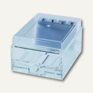 officio Karteibox/Visitenkartenbox, DIN A8, Acryl, 150x110x80mm, glasklar, 4470