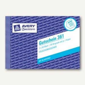 Zweckform Formular Gutschein, DIN A6 quer, 2 x 50 Blatt, 361