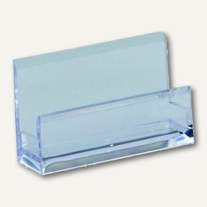 Alco Visitenkartenständer, Acryl, 103 x 60 x 30 mm, glasklar, 4456-22