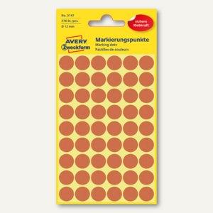 Zweckform Markierungspunkte, rund, Ø 12 mm, leuchtrot, 270 Stück, 3147