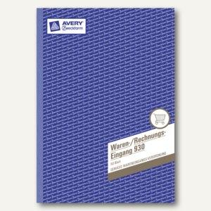 Zweckform Waren-/Rechnungseingangsbuch, DIN A4, beidseitig bedruckt, 50 Bl., 930