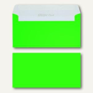 Briefhüllen DIN lang, 114x229 mm, haftklebend, 120 g/qm, neongrün, 500 St.