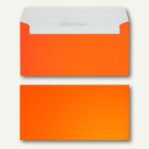 Briefhüllen DIN lang, 114x229 mm, haftklebend, 120 g/qm, neonorange, 500 St.