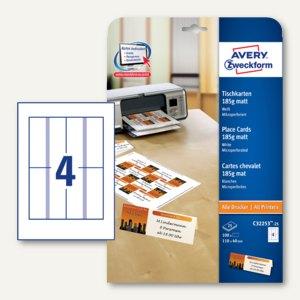 Tischkarte für alle Drucker