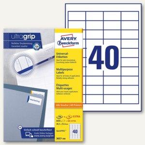 Zweckform Universal-Etiketten, 48.5x25.4mm, Rand, weiß, 8.000 St., 3657-200