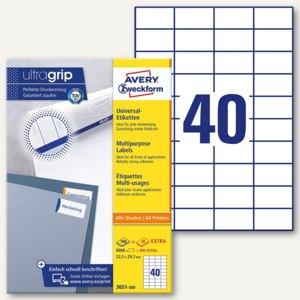Zweckform Universal-Etiketten, 52.5 x 29.7 mm, Rand, weiß, 8.000 St., 3651-200