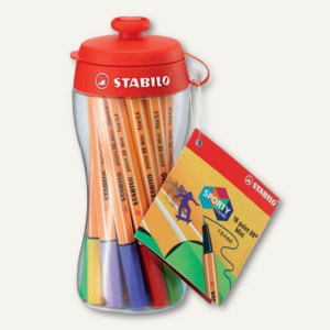 STABILO Fineliner point 88 Mini, 18er point pac, 688/18-04