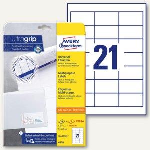 Zweckform Universal-Etiketten, 64 x 36 mm, Rand, weiß, 525St., 6170