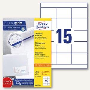 Zweckform Universal-Etiketten, 70 x 50.8 mm, weiß, 3.000 St., 3669-200
