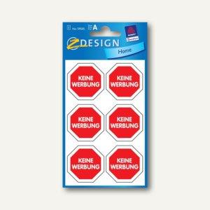 Hinweis-Etiketten Keine Werbung...
