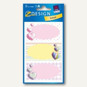 Z-Design Buchetiketten Herzen