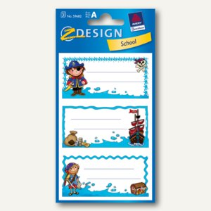 Z-Design Buchetiketten Pirat