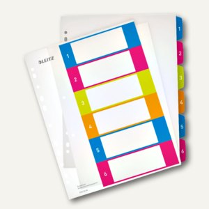 Zahlen Kunststoff-Register WOW